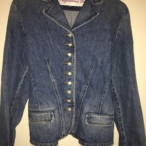 Jean Jacket Button Up w/ small buttons up front
